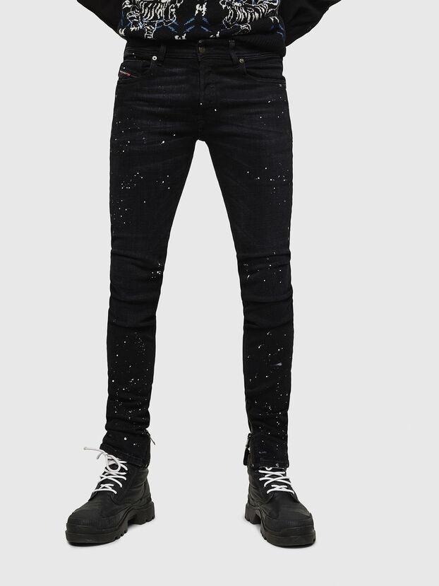 Sleenker Zip 0093X, Black/Dark grey - Jeans