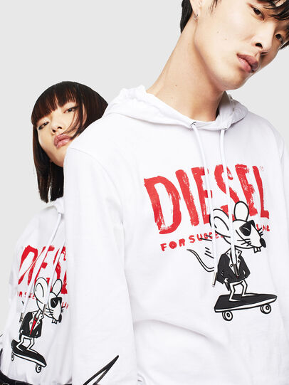 Diesel - CL-T-JUST-LS-HOOD, White - T-Shirts - Image 4