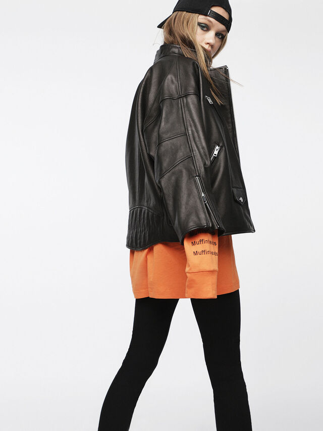 Diesel - L-DROP, Black Leather - Leather jackets - Image 2