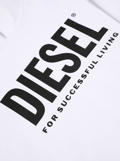 Diesel - SDIVISION-LOGO OVER, White - Sweaters - Image 3