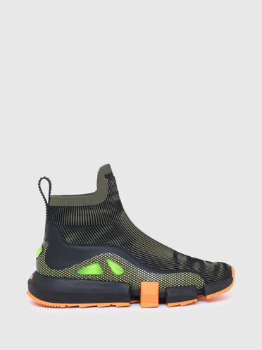 Sock sneakers with bubble detail