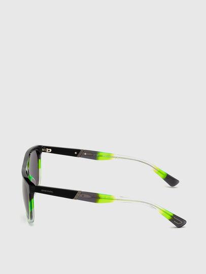 Diesel - DL0299, Black/Green - Sunglasses - Image 3