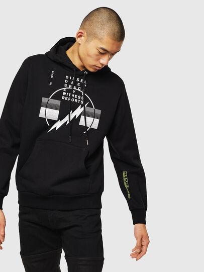 Diesel - S-GIRK-HOOD-J5, Black - Sweaters - Image 1