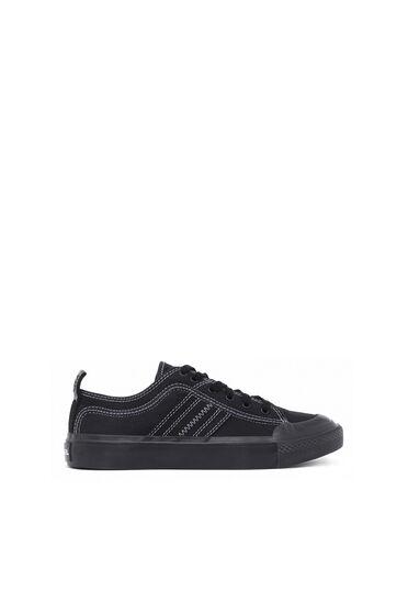 Low top sneaker in bicolour cotton