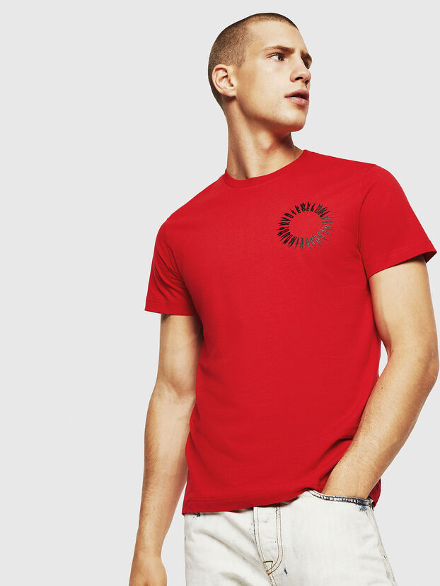 T-DIEGO-A12, Fire Red - T-Shirts