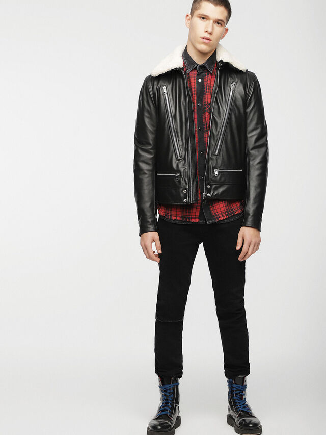 Diesel - L-NED, Black - Leather jackets - Image 4