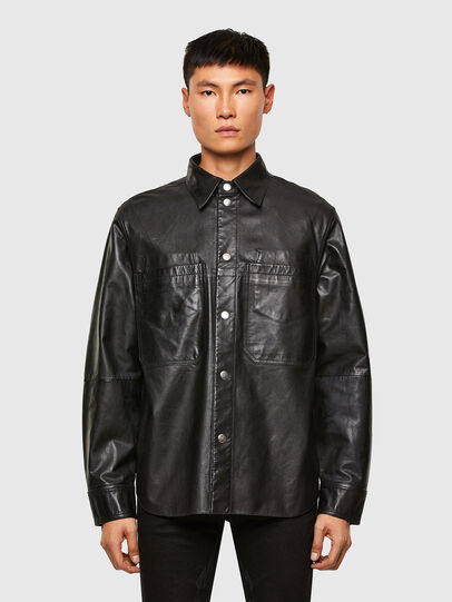 Diesel - L-BROWN, Black - Leather jackets - Image 1