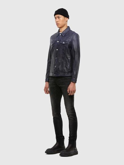 Diesel - L-NHILL-TRE, Dark Blue - Leather jackets - Image 6