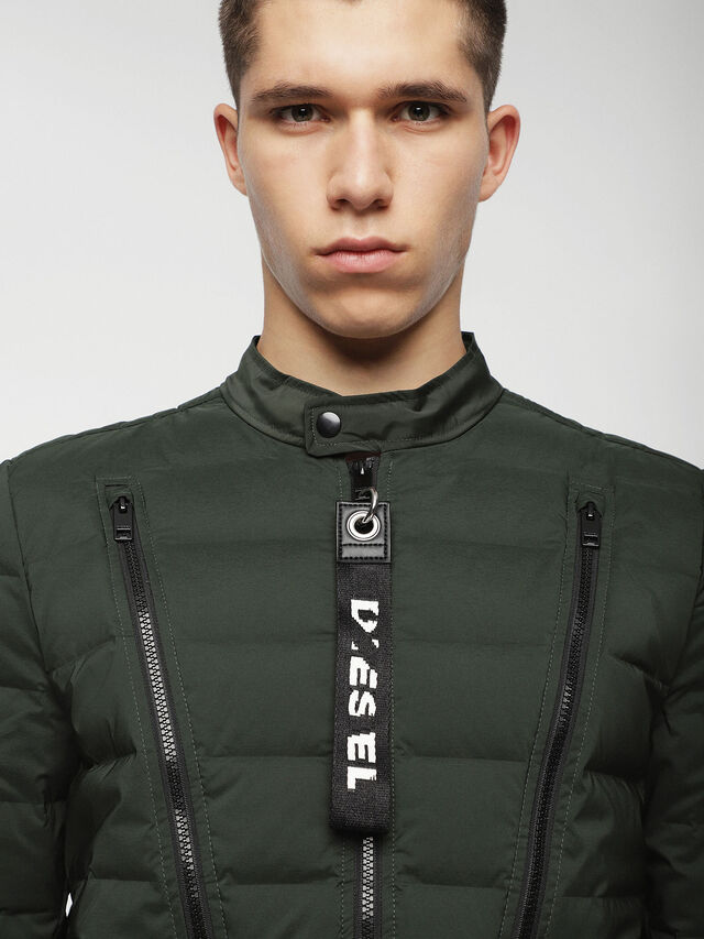 Diesel - W-HANKS, Dark Green - Winter Jackets - Image 3