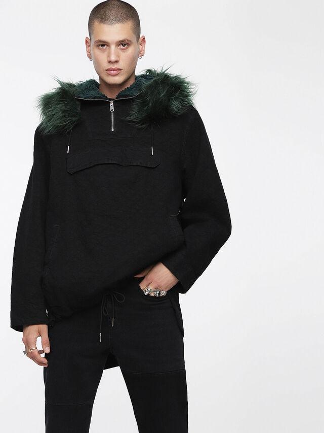 Diesel - D-ANNY, Black - Winter Jackets - Image 1
