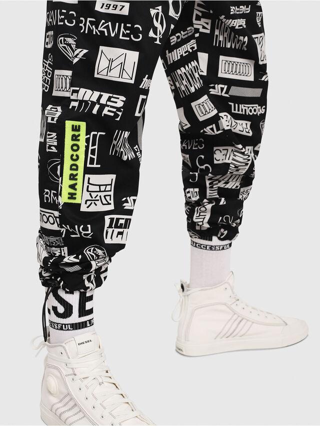 Diesel - P-TOLLER-PR, Black/White - Pants - Image 3