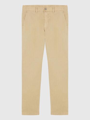 Chinos in stretch cotton gabardine