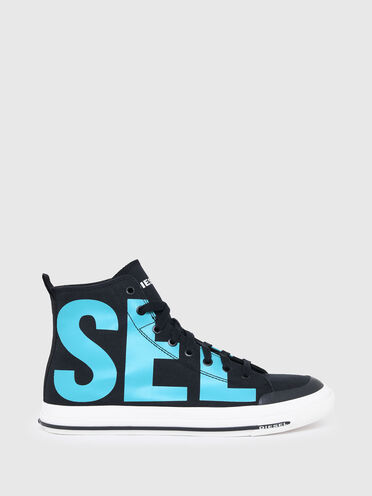 High-top sneakers with logo print