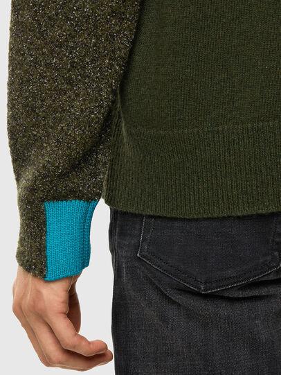 Diesel - K-MOSES, Olive Green - Knitwear - Image 5