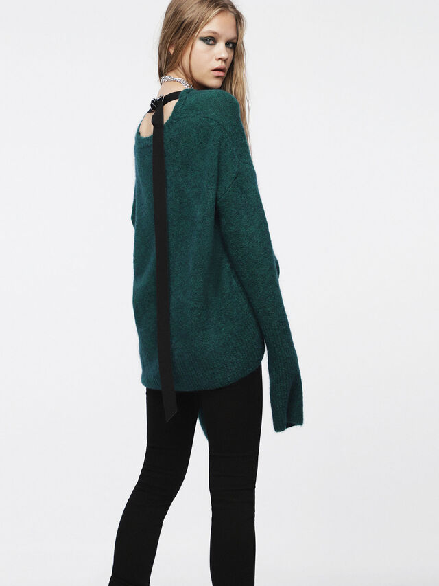 Diesel - M-ALPY, Bottle Green - Knitwear - Image 2
