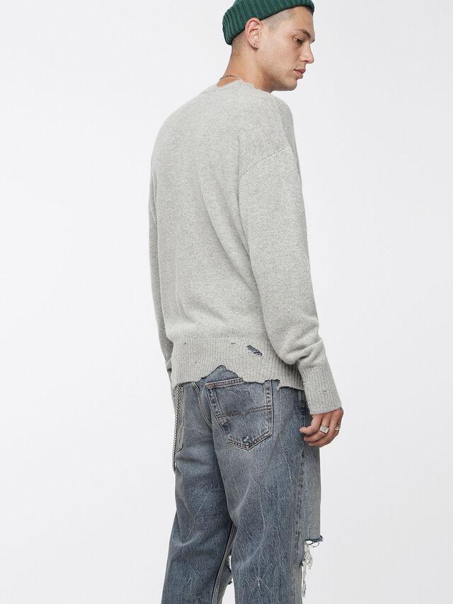 Diesel - K-MUST, Light Grey - Knitwear - Image 2