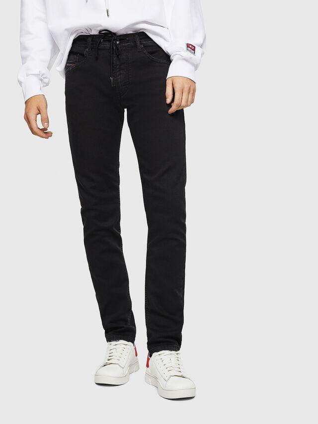 Diesel - Thommer JoggJeans 0687Z, Black/Dark grey - Jeans - Image 1