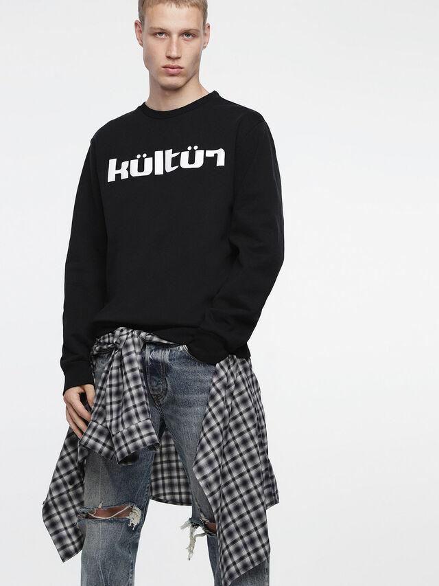 Diesel - S-JUST-XA, Black - Sweaters - Image 1