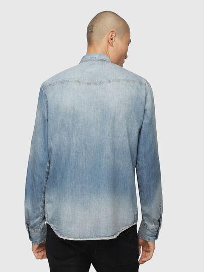 Diesel - D-EAST-P, Medium blue - Denim Shirts - Image 2