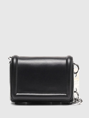 Small zip-trim cross-body in leather
