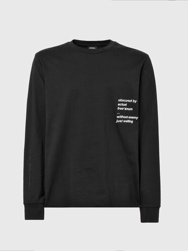 Long-sleeve T-shirt with text print
