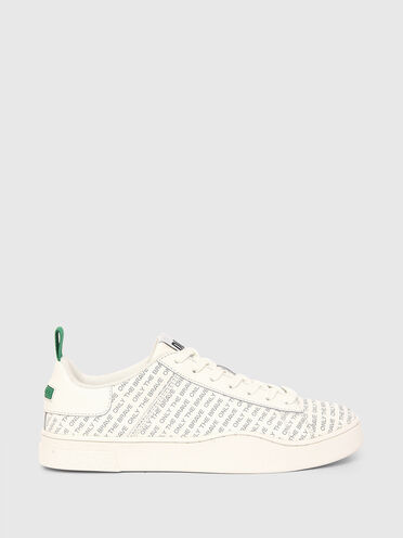 Low-top sneakers in perforated leather