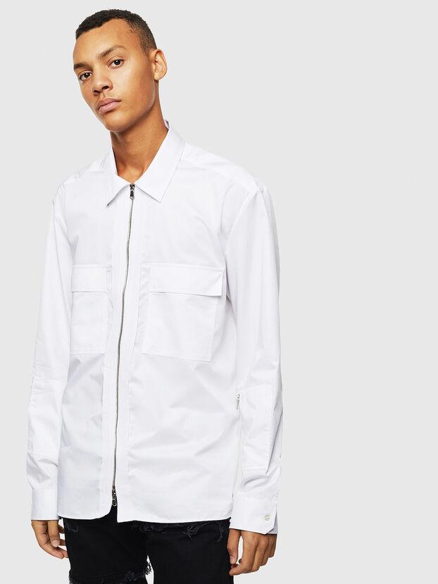 S-PATCH-P, White - Shirts