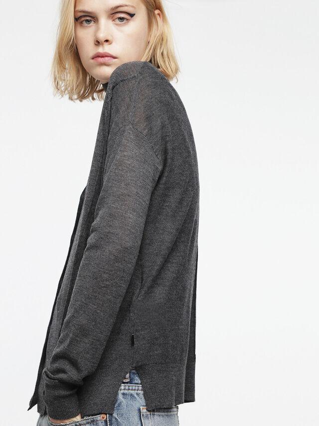 Diesel - M-STILES, Dark grey - Knitwear - Image 3