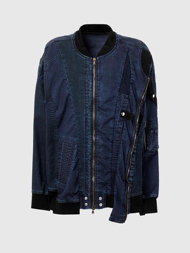 Elongated bomber jacket in JoggJeans®