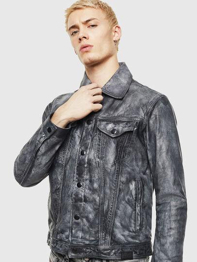 Diesel - L-NHILL, Black - Leather jackets - Image 1