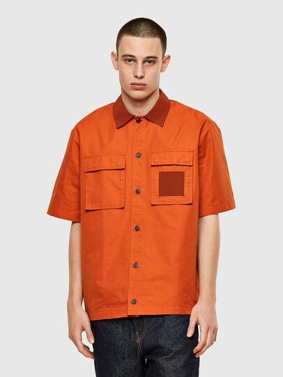 Diesel - S-GUNN, Orange - Shirts - Image 1