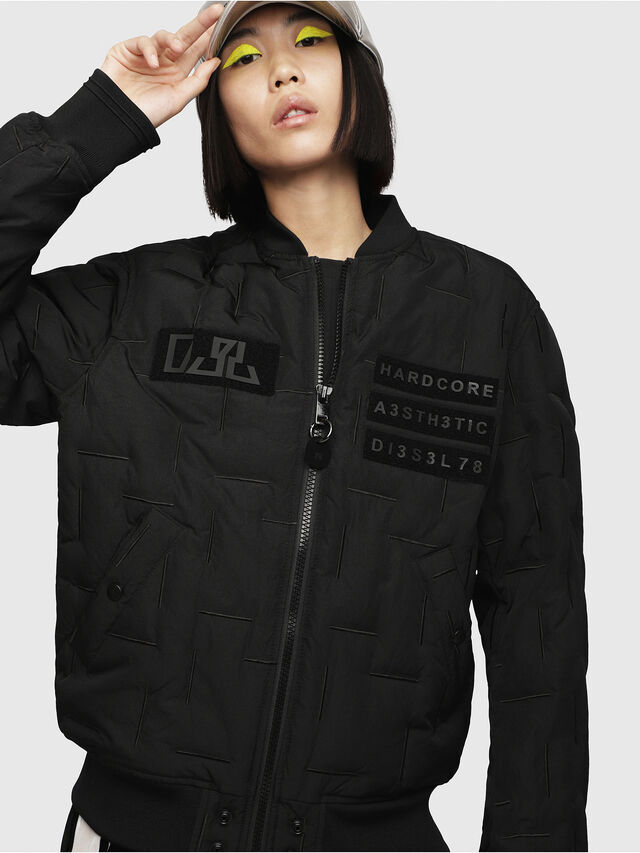 Diesel - W-TANAKA-FL, Black - Winter Jackets - Image 1