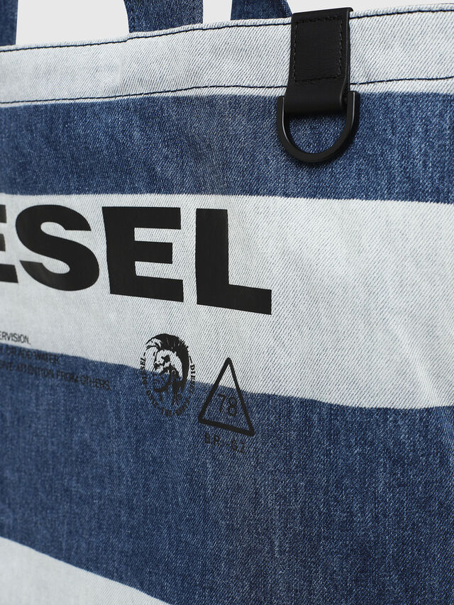 Diesel - F-THISBAG SHOPPER NS, Blue Jeans - Shopping and Shoulder Bags - Image 4