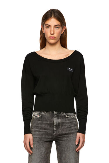 Silk-blend pullover with fitted hem