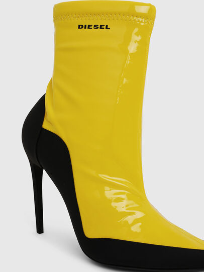 Diesel - D-SLANTY ABH, Yellow - Ankle Boots - Image 4