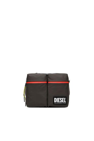 Convertible colour-block messenger bag