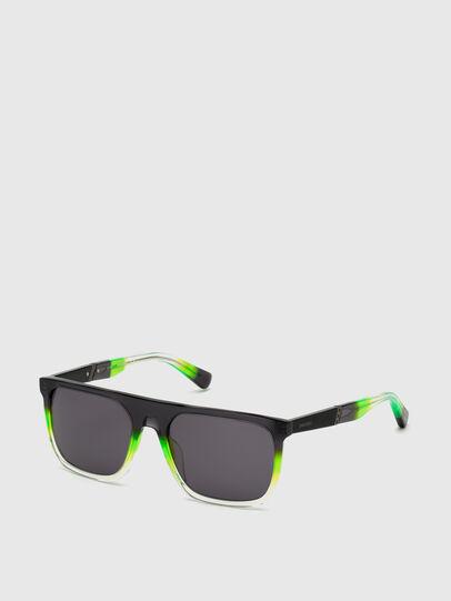 Diesel - DL0299, Black/Green - Sunglasses - Image 2