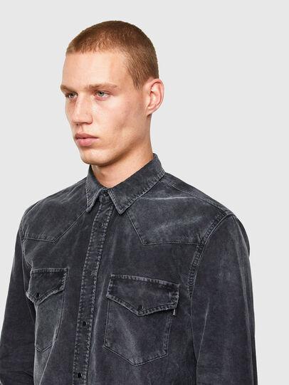 Diesel - S-EAST-LONG-VE, Black - Shirts - Image 3