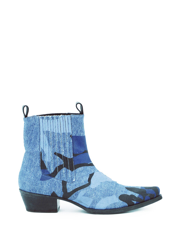 Diesel - SOCHELSEABOOT, Melange Blue - Boots - Image 4