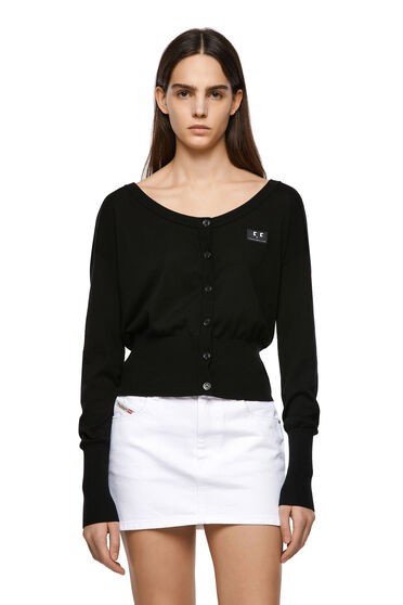 Silk-blend cardigan with fitted hem