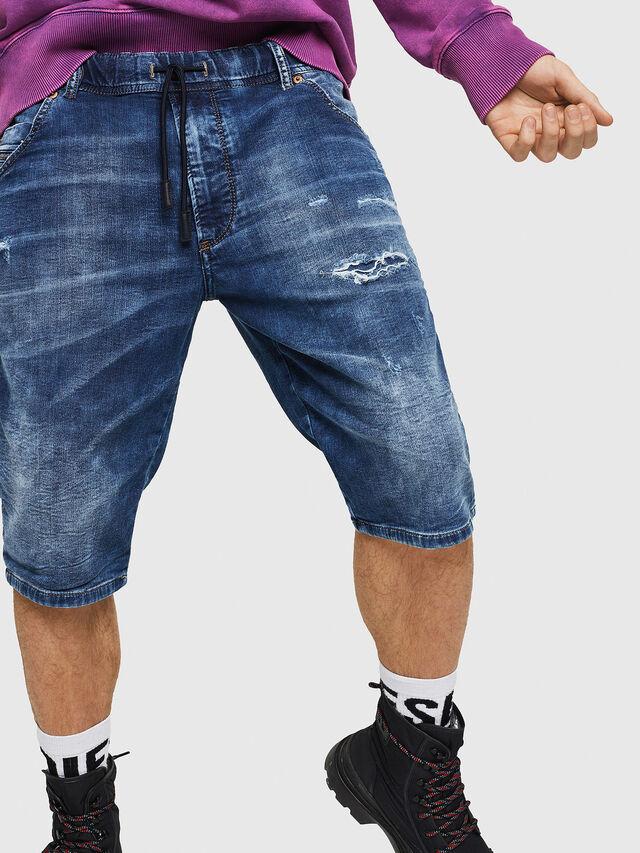 Diesel - D-KROOSHORT JOGGJEANS, Medium blue - Shorts - Image 1