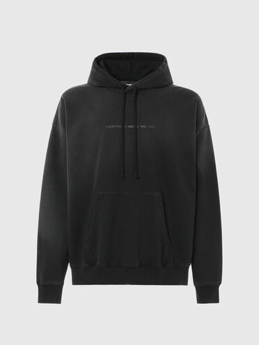 Hoodie with faded treatment