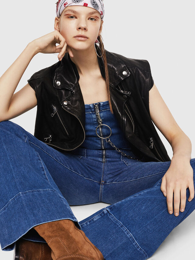 Diesel - DE-THINK, Blue Jeans - Jumpsuits - Image 4