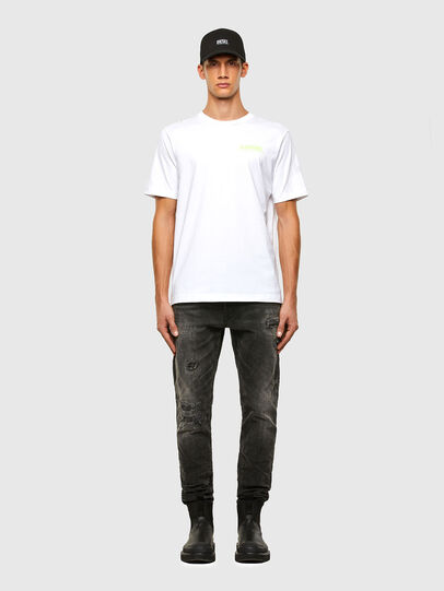 Diesel - T-JUST-SLITS-X84, White - T-Shirts - Image 5