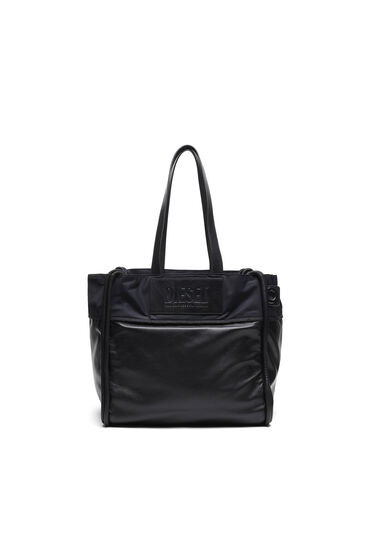 Shopper in padded leather
