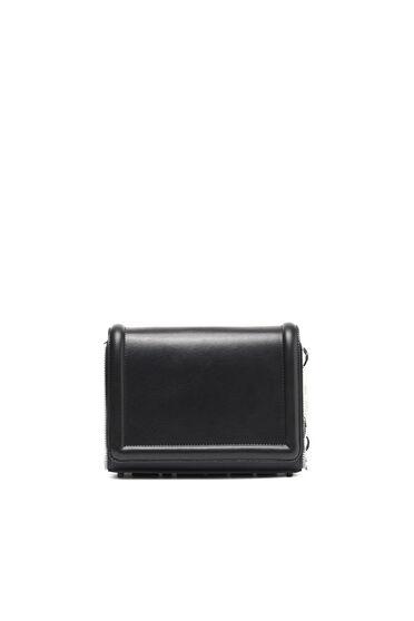 Zip-trim cross-body in leather