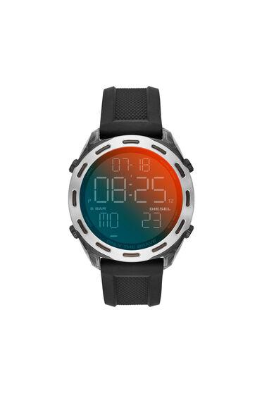 Crusher digital black silicone watch