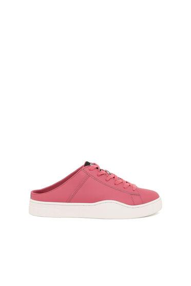 Slip-on mule sneakers in leather