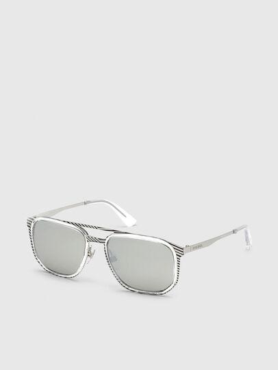 Diesel - DL0294, White/Black - Sunglasses - Image 2