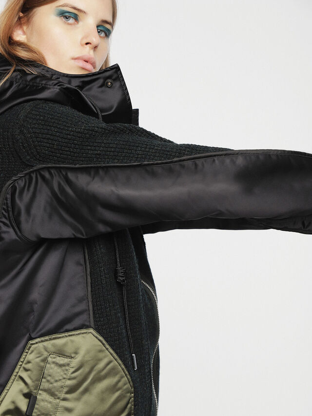 Diesel - M-LIF-FL, Black - Winter Jackets - Image 3